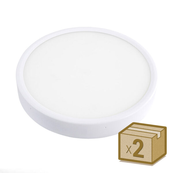 Pack 2 x Plafón Led FROSVIK 18W superficie