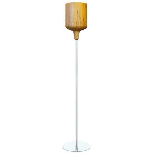 Lámpara de pie Led de madera KALIX