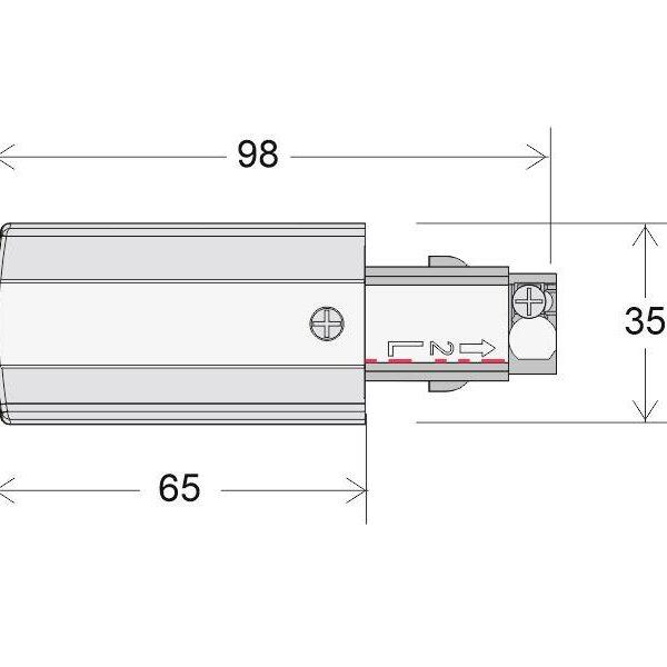 Conector carril trifásico a red