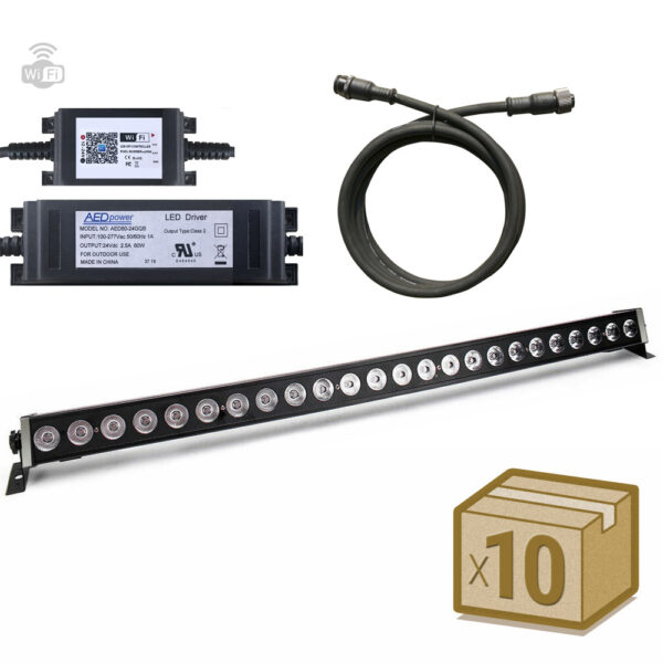 Pack 10xProyector LED lineal