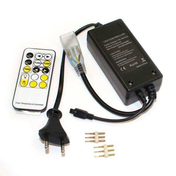 Controlador IR tira led 220V DUAL 600W