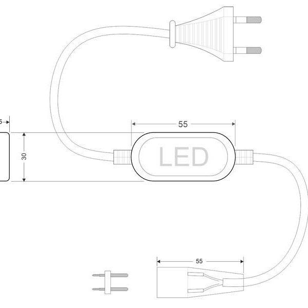 Alimentador para tira led 220V SMD2835 doble