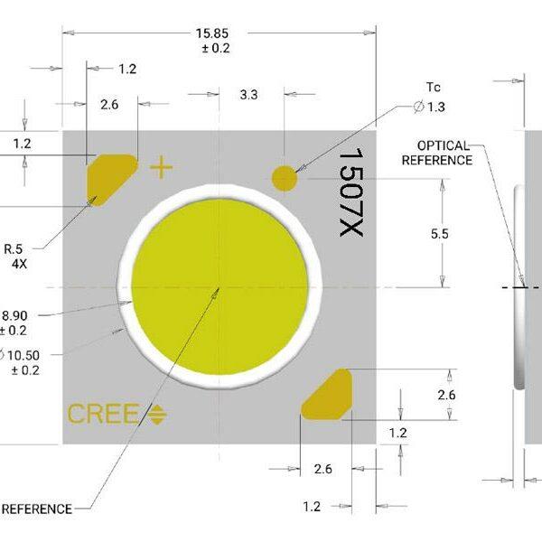 Chip led COB CREE 1507
