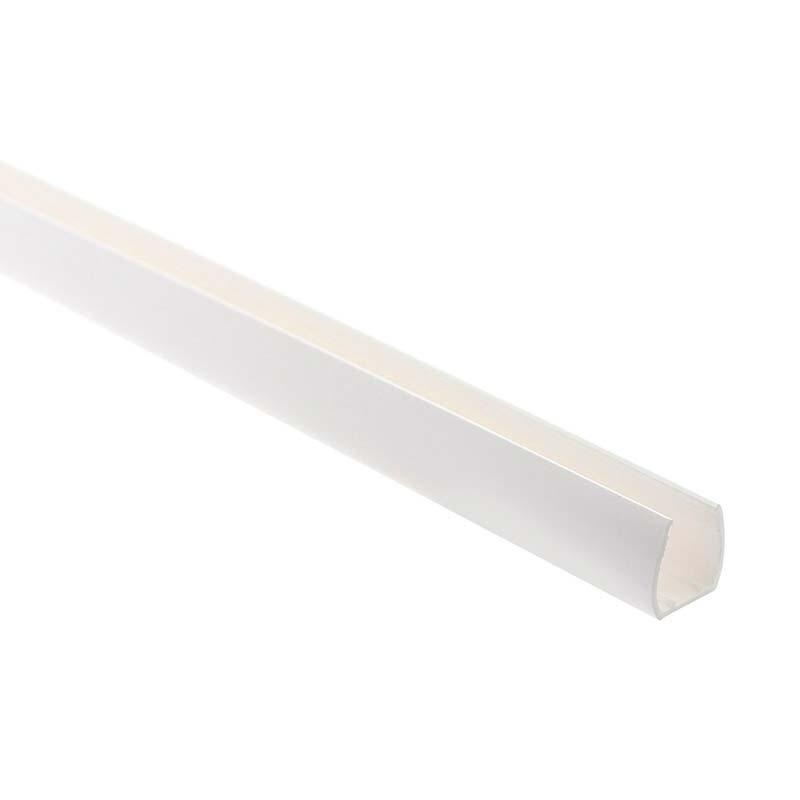 Carril PVC blanco para Led NEON 15