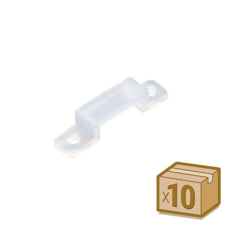 10x grapas 13mm silicona para tira led