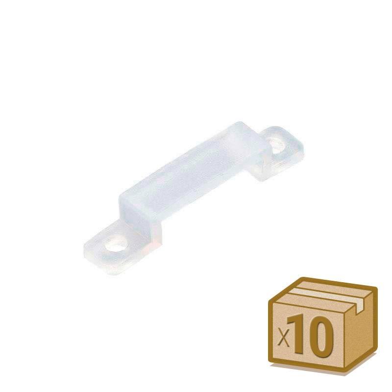 10x grapas 17mm silicona para tira led