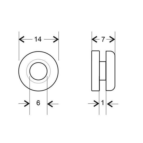 Aro pasacables transparente Ø6 / 1mm