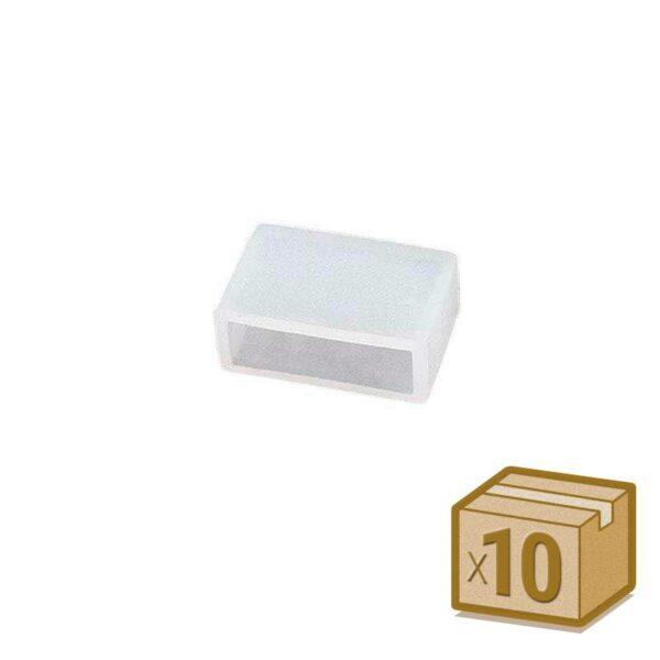 10x tapones de silicona 15mm para tira led