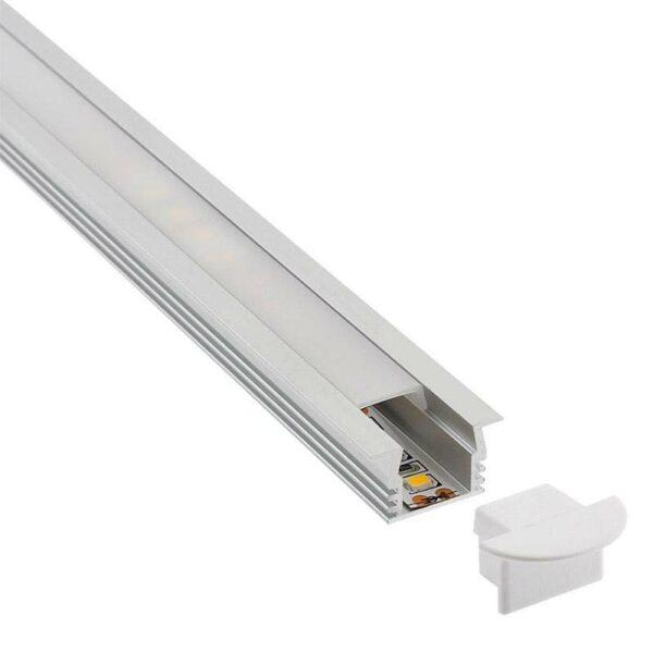 KIT - Perfil aluminio CAMPRO para tiras LED