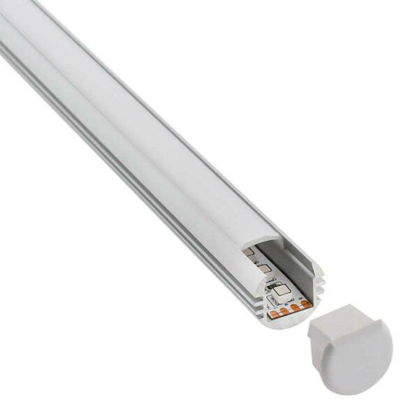KIT - Perfil aluminio ROUND para tiras LED