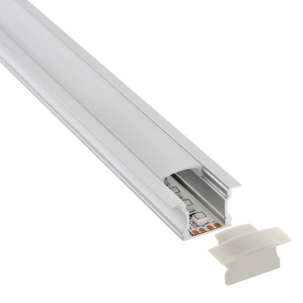 KIT - Perfil aluminio RIDA para tiras LED
