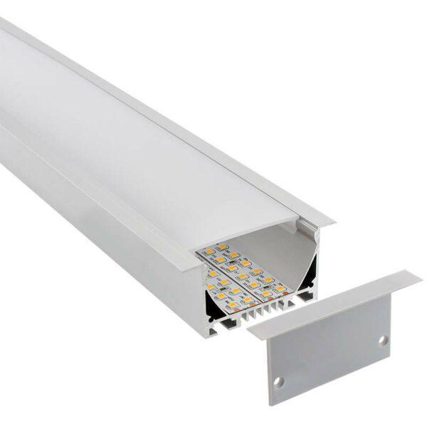 KIT - Perfil aluminio OSIC para tiras LED