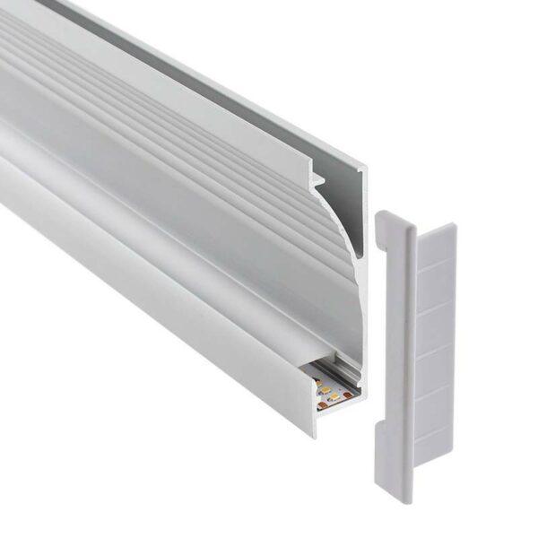 KIT - Perfil aluminio NITRA para tiras LED