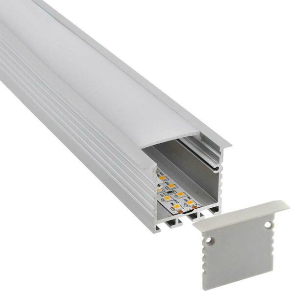 KIT - Perfil aluminio TEITO para tiras LED