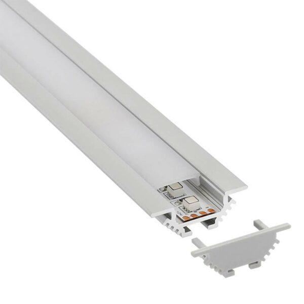 KIT - Perfil aluminio CORNER para tiras LED