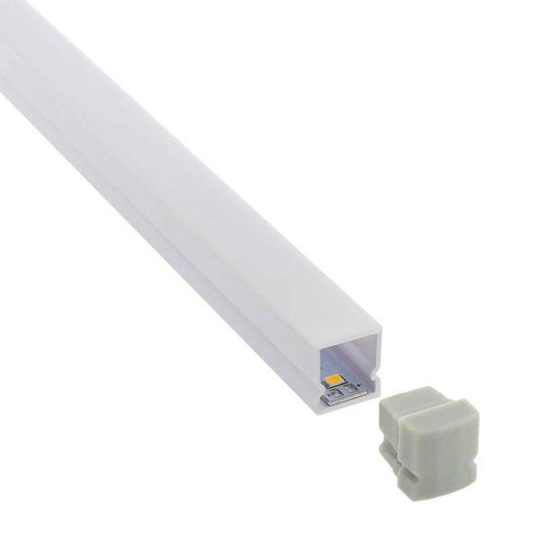 KIT - Perfil plástico CUB IP68 para tiras LED