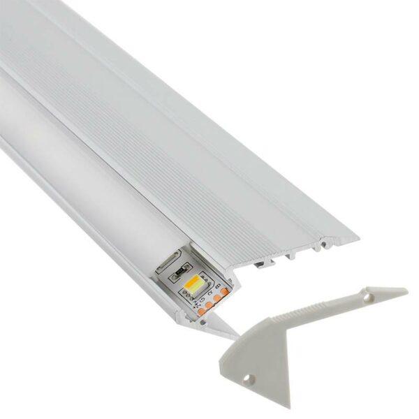 KIT - Perfil aluminio STAIR para tiras LED