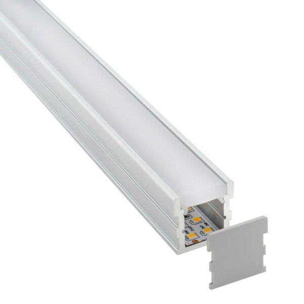 KIT - Perfil aluminio FOOT para tiras LED