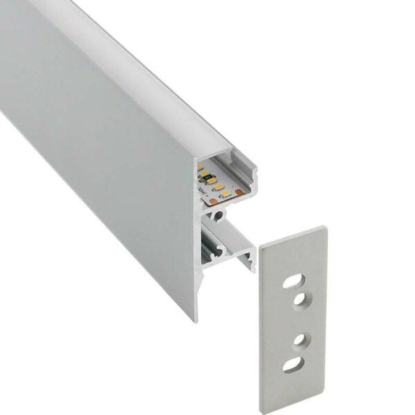 KIT - Perfil aluminio WALL HOS para tiras LED