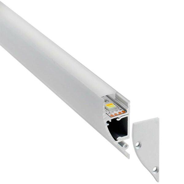 KIT - Perfil aluminio WALL UP para tiras LED