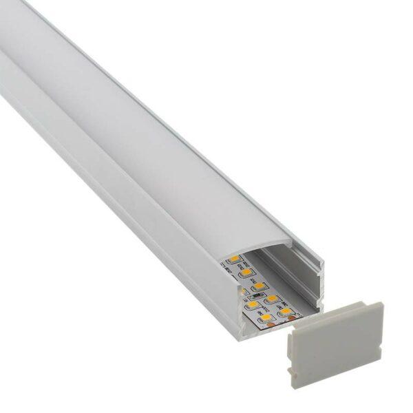 KIT - Perfil aluminio FAT para tiras LED