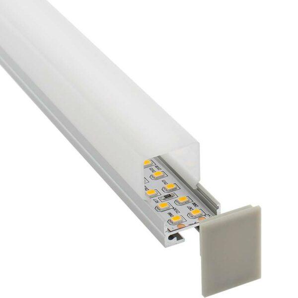 KIT - Perfil aluminio ALKAL SUSPEND 27mm para tiras LED