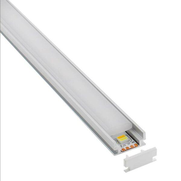 KIT - Perfil aluminio HARDY para tiras LED