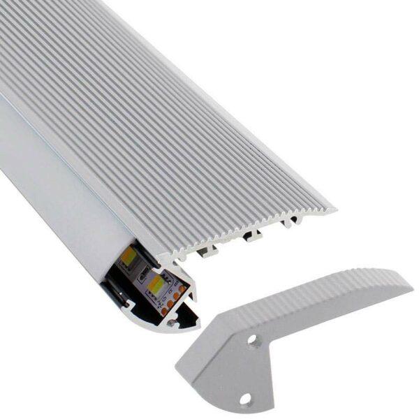 KIT - Perfil aluminio silver CINEMA para tiras LED