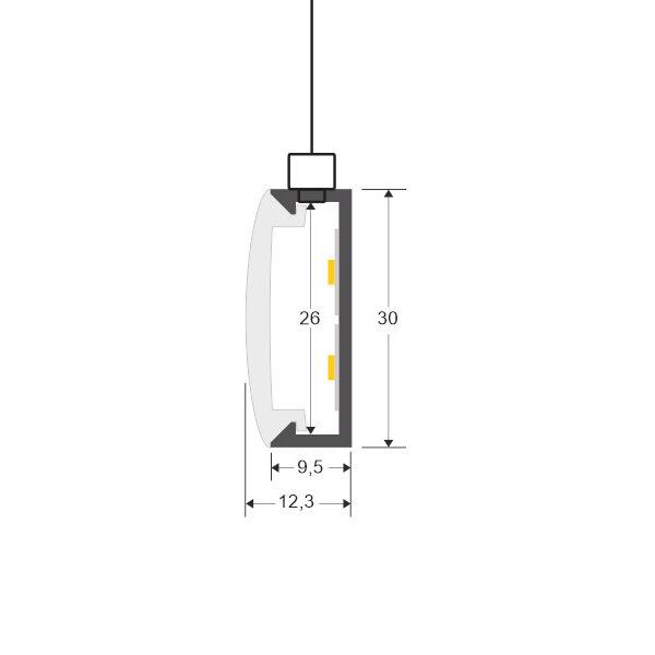 Cable de suspensión 1m de acero inoxidable