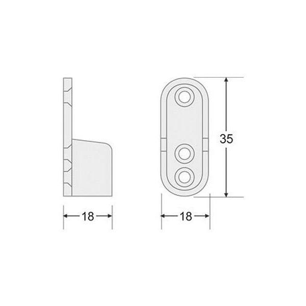 Soportes laterales para perfil LOCKER
