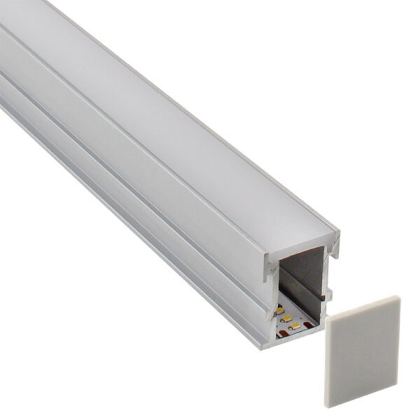 KIT - Perfil aluminio FOOT STEP para tiras LED