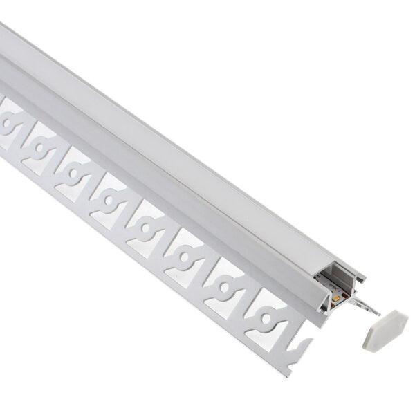 KIT Perfil arquitectónico aluminio SINE 2 metros