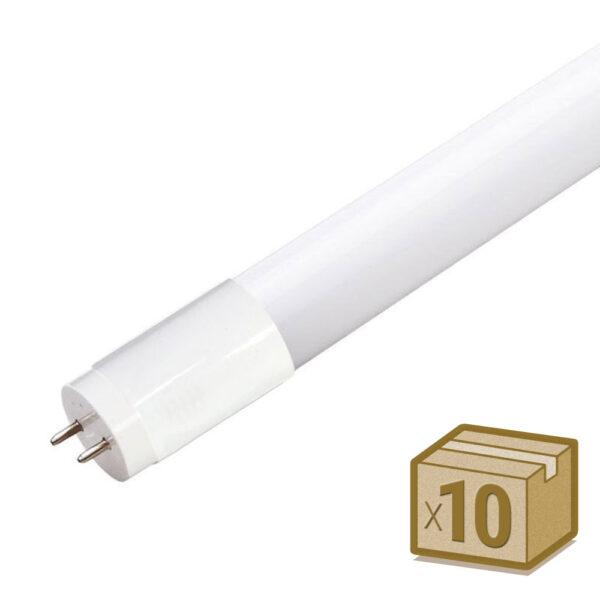Pack 10 Tubos LED T8 SMD2835 Epistar Cristal - 18W - 120cm