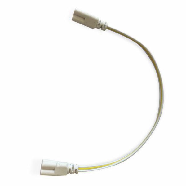 Cable con conectores (x2) para tubos T5 / T8