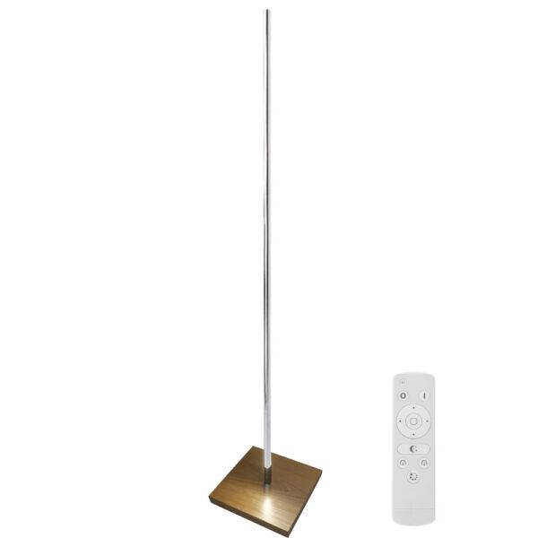 lámpara de pie led LUMO LIGNO KVADRATA RF