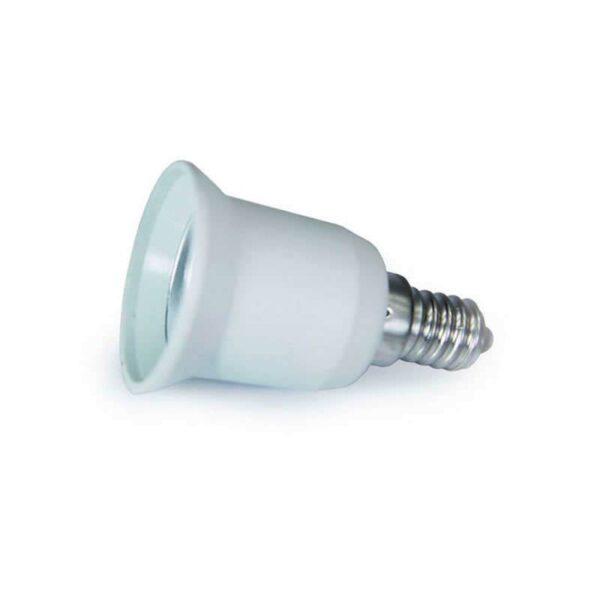 Adaptador / conversor para bombillas E27 a E14