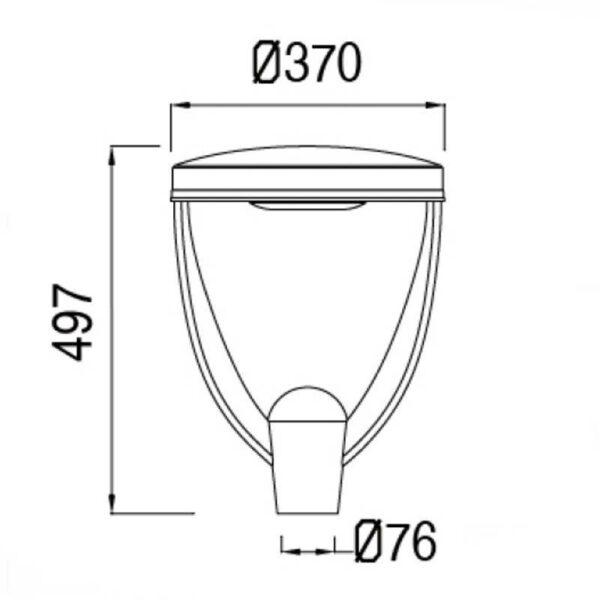 Farola LED 40W CONIC chipled Philips Lumileds 160Lm/W