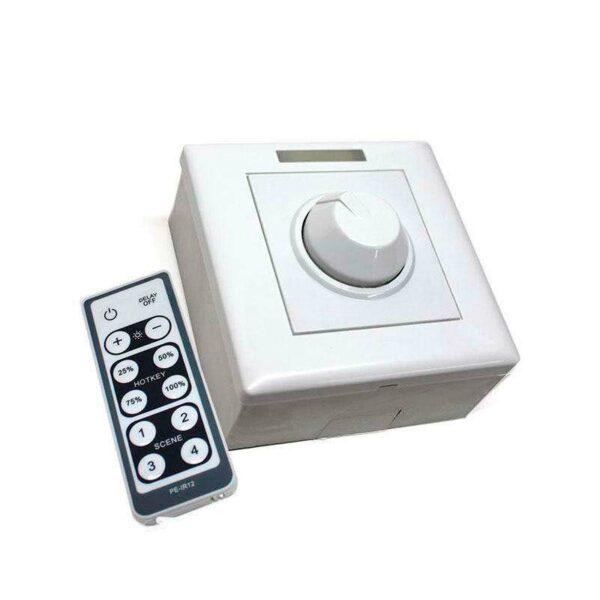 Regulador Dimmer LED + mando IR 200W