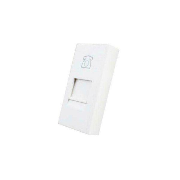 Conector Teléfono RJ11 blanco para mecanismo de empotrar