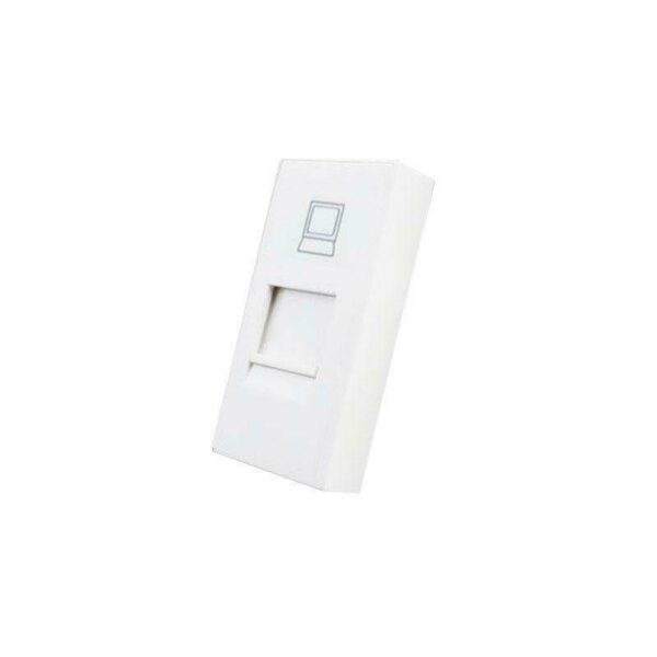Conector Red RJ45 blanco para mecanismo de empotrar