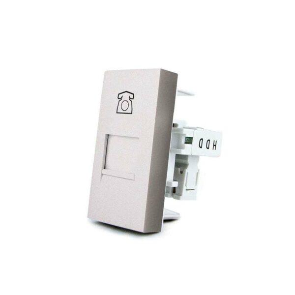 Conector Teléfono RJ11 gris para mecanismo de empotrar