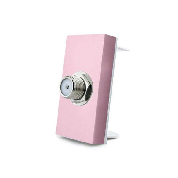 Conector  SAT rosa para mecanismo de empotrar