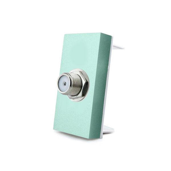 Conector  SAT verde para mecanismo de empotrar