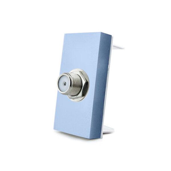 Conector  SAT azul para mecanismo de empotrar
