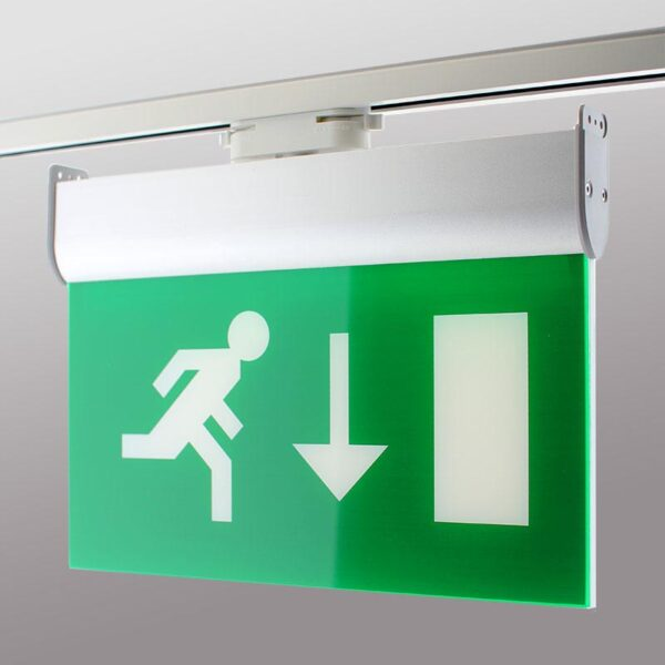 Luz Emergencia permanente para Carril Monofásico Emergency RAIL EXIT