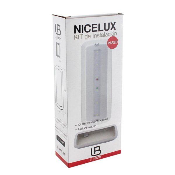 Kit montaje LED NICELUX empotrable pared