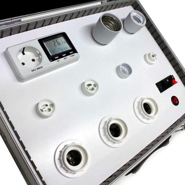 Maletín demo SEROV para bombillas LED