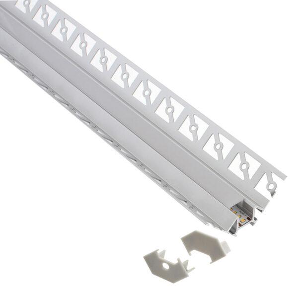KIT Perfil arquitectónico aluminio LING 2 metros