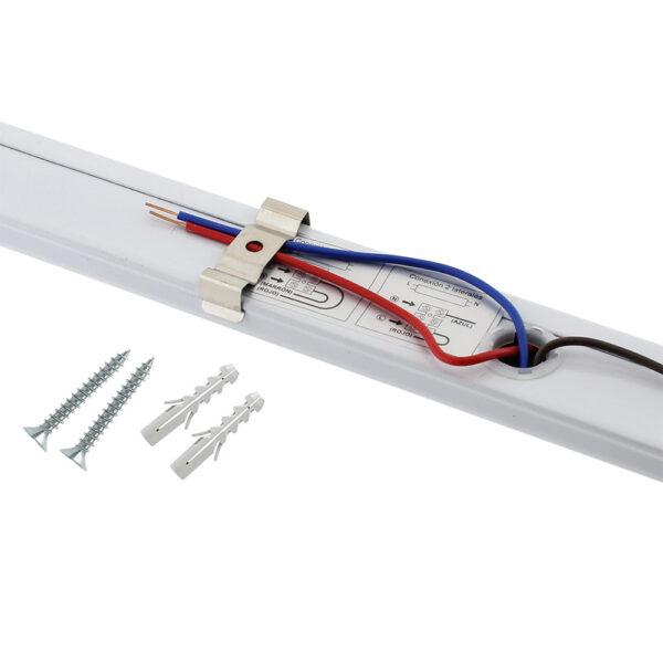 Soporte para Tubo LED T8 de 120 cm. Conexión uno o dos Laterales