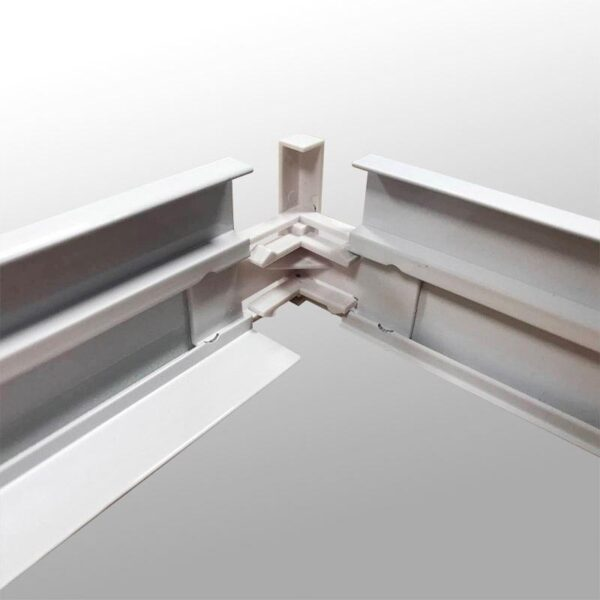 Kit marco Blanco para instalar Panel Led 30x120cm en superficie